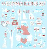 Wedding Bridal Icon set Design elements — Stock Photo