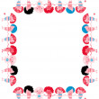 Vector chidren frame banner border happy kids — Stock Photo #3387469