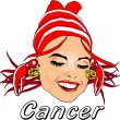 Stock Photo: Woman Face Beauty Cancer Horoscope