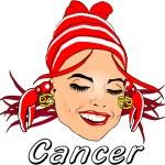 Woman Face Beauty Cancer Horoscope — Stock Photo