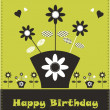 Flower card design fake paper — Stock Photo #3471205