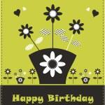 Flower card design fake paper — Stock Photo