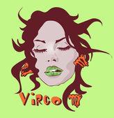 Woman Face Beauty Virgo Horoscope set make-up and beauty — Stock Photo
