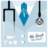 Vector card Close up of a doctors lab coat uniform — Stock Photo