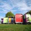 Multi color caravans — Stock Photo