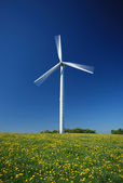 Electricity wind generator — Stock Photo