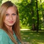 langharige blonde — Stockfoto
