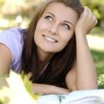 hermosa estudiante — Foto de Stock