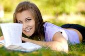 Piękną studentkę — Zdjęcie stockowe