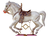 Merry-go-round horse — Stock Photo