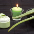 Aloe vera facial cream - Stock Photo