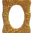 Stock Photo: Gilt picture frame