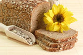 Multi-Grain-Bread and Sunflower Seeds — Stock Photo