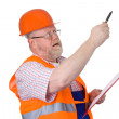 Construction engineer giving instructions — Stock Photo #3201022
