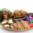 Stock Photo: Plate of Christmas Goodies
