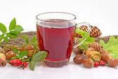 Té de frutas con rosa mosqueta — Foto de Stock