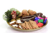 Plate of Christmas Goodies — Stock Photo