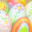 Easter eggs on straw — Stock Photo #3838088