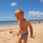 Child on the beach — Stock Photo #3210952