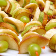 Stock Photo: Fruit canapés
