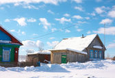 Village in wintertime — Stock Photo