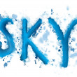 The inscription «sky» — Stock Photo