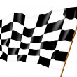 Checkered flag. Illustration — Stock Photo