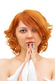 Beautiful ginger-haired girl — Stock Photo