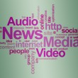 News and media – word cloud — Stock Photo #3328921