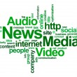 Stock Photo: News and medi– word cloud
