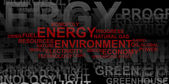 Energy and environment – word cloud — Stock Photo