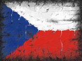 Flag of Czech Republic painted on old wall — Stock Photo