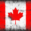 Flag of Canada painted on old wall — Stock Photo