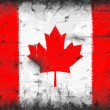 Stock Photo: Flag of Canadpainted on old wall