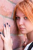 Mooie jonge vrouw in verdriet — Stockfoto