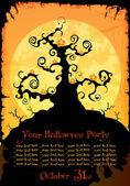 Halloween party invitation or background — Stockvektor