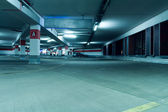 Underground parking garage interior — Stock Photo