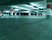 Parking garage, underground interior — Stock Photo