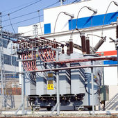 Power station and transformer — Stock Photo
