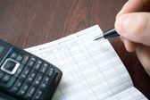 Doing home finances — Stock Photo