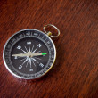 Royalty-Free Stock Photo: Retro compass on brown background