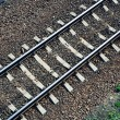 Railroad track from above — 图库照片