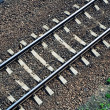 Stock Photo: Railroad track from above