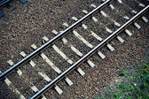 Railroad track from above — ストック写真