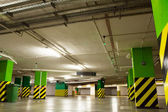 Underground parking garage with car — Stock Photo
