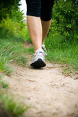 Woman Walking Cross Country and Trail — Stock Photo