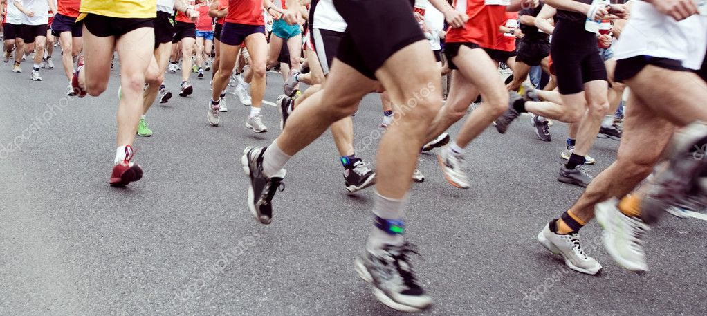 Runners running in marathon race in city — Stock Photo #3127923