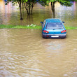 Flood insurance need before — Foto de Stock