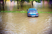 Flood insurance need before — Stock Photo