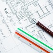 Foto Stock: House blueprints